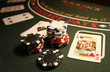 Leinwanddruck Bild - Casino BlackJack