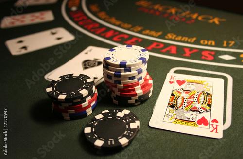 Leinwanddruck Bild Casino BlackJack
