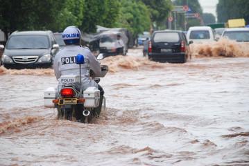 Police Caught on Flood