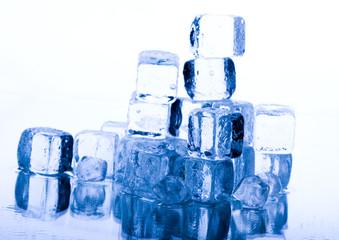 Background = Ice cubes