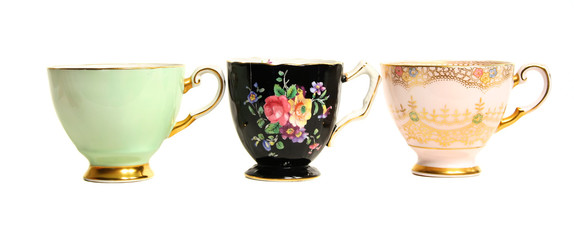 Antique Teacups Row