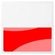 polish square aqua button