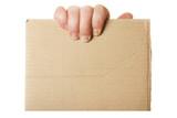 Blank cardboard poster