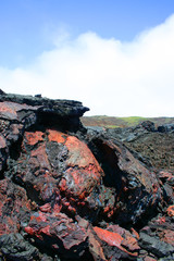 Solidified lava in the Galapagos