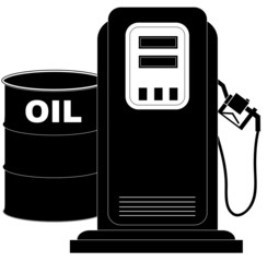 oil barrel supplying the demand of fuel or gas pump