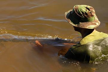 Military training combat - water environment