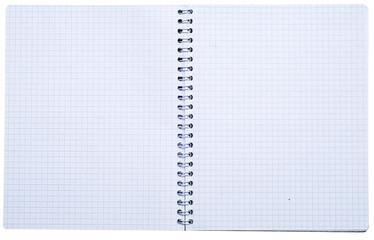 open spiral notebook