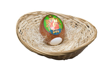 Easter egg in a basket