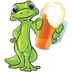 Gecko Holding out Beer