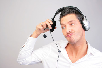 Callcenter Agent Headset Hotline