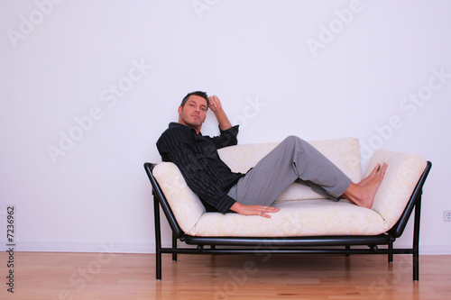 Mann Couch Sessel Business man