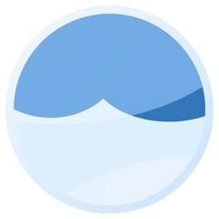 cloud blue aqua button