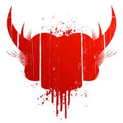 Blood splatter design element