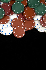 Poker chips, with space for text at bottom
