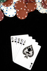 Royal flush at Poker