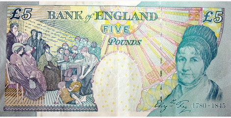 Five Pounds Note back side