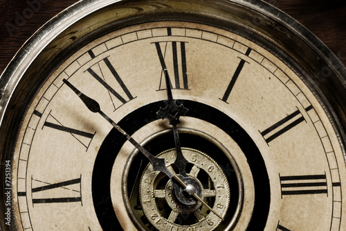 Face of Old Grandfather Clock