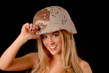 Lovely Blond Army Girl