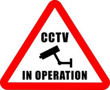 CCTV in operation Sign poster