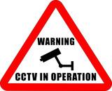 CCTV Warning Sign poster