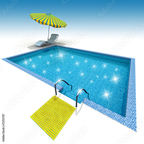 canvas print picture Swimming pool