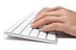 Writing on a Grey Keyboard