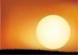 sfondo tramonto vuoto poster