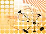 Hi-tech backdrop. poster