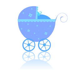 Newborn vector carriage, stroller, baby buggy