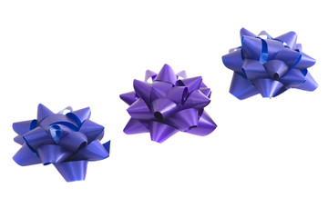 Violet and blue bows