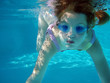 underwater swimming girl