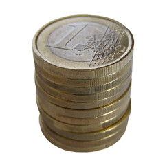 Money One euro coins Euros