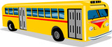 1950s coach bus poster