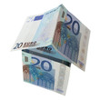 House of money - Euro bank notes