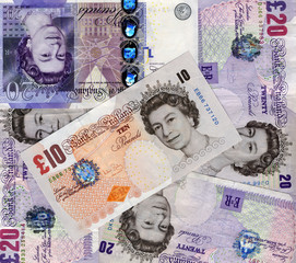 British Pounds background