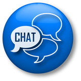 Fototapety Chat Icon