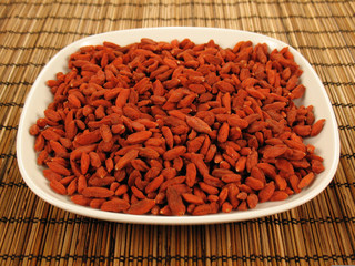 Goji Berries on a Plate
