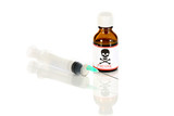 injection and poison bottle poster