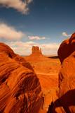 Between Rocks in Monument Valley Arizona