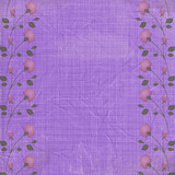 Abstract floral background. Vintage purple textile