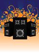 sound speakers background
