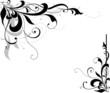 swirly floral corner