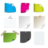Vector - Big collection of paper message set