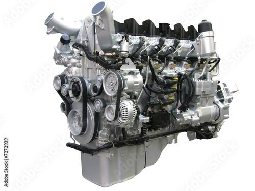 Leinwandbild Motiv truck engine isolated