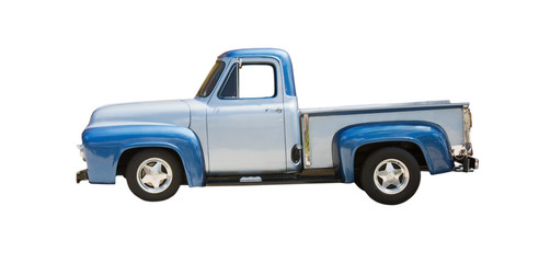 two tone blue classic truck