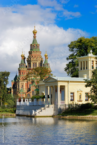 Newly restored Tsarina's Pavilion in Peterhof Upper Garden