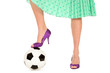 Soccer Ball and Women's Legs