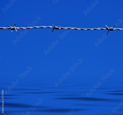 frontera en el mar