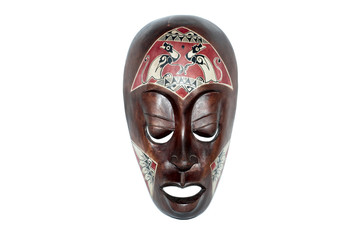 african mask, isolated