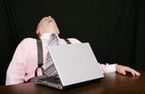 sleeping business man at his desk
